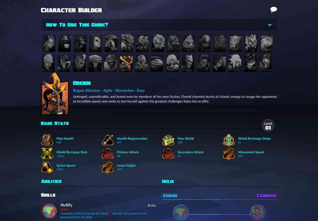 Character Builder - Gear Search - Battleborn | lowlidev