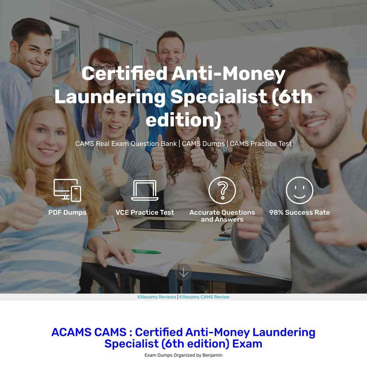 Pass4sure CAMS Certified Anti-Money Laundering Specialist (6th edition) exam Actual Questions