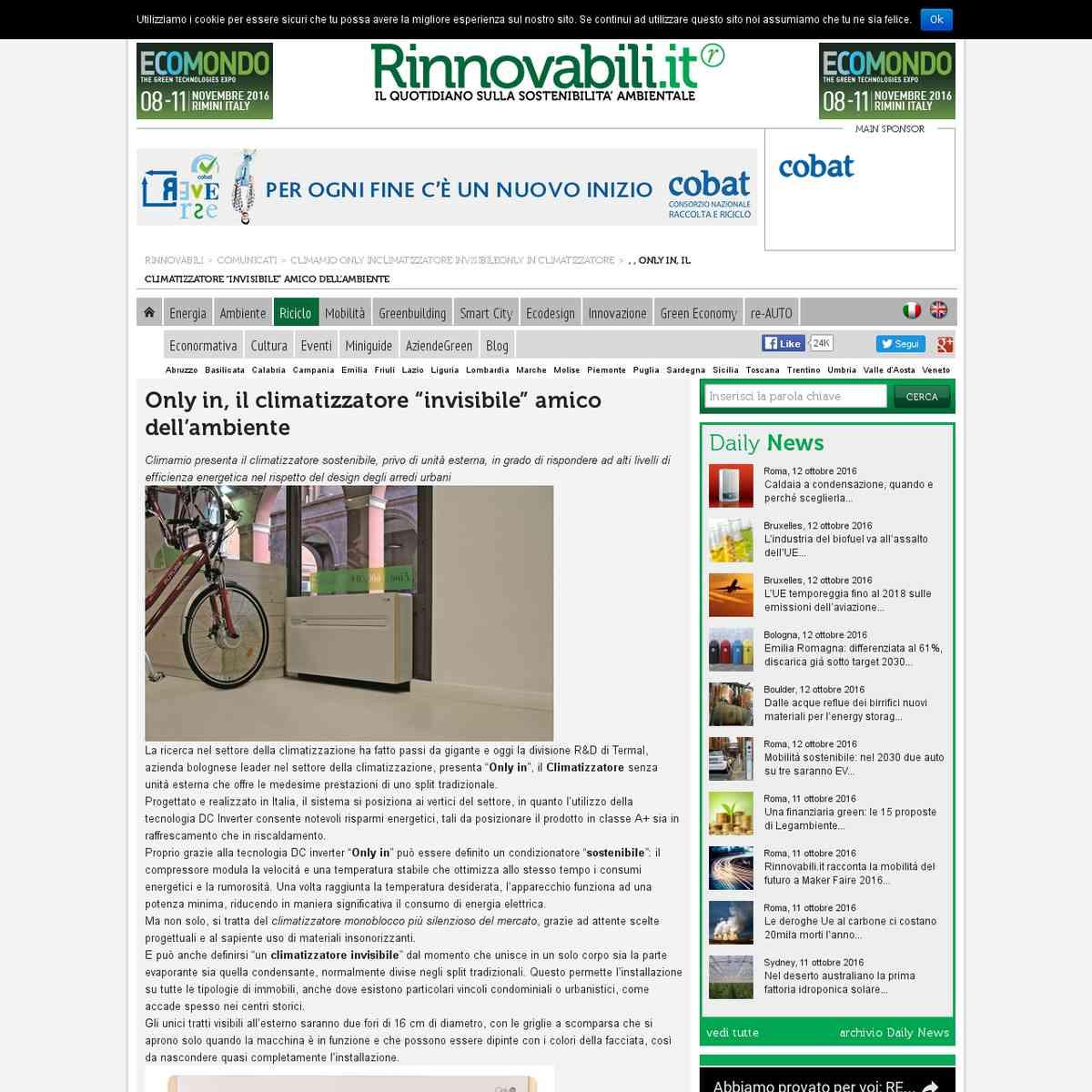 Only In Climatizzatore: Il focus di Rinnovabili.it