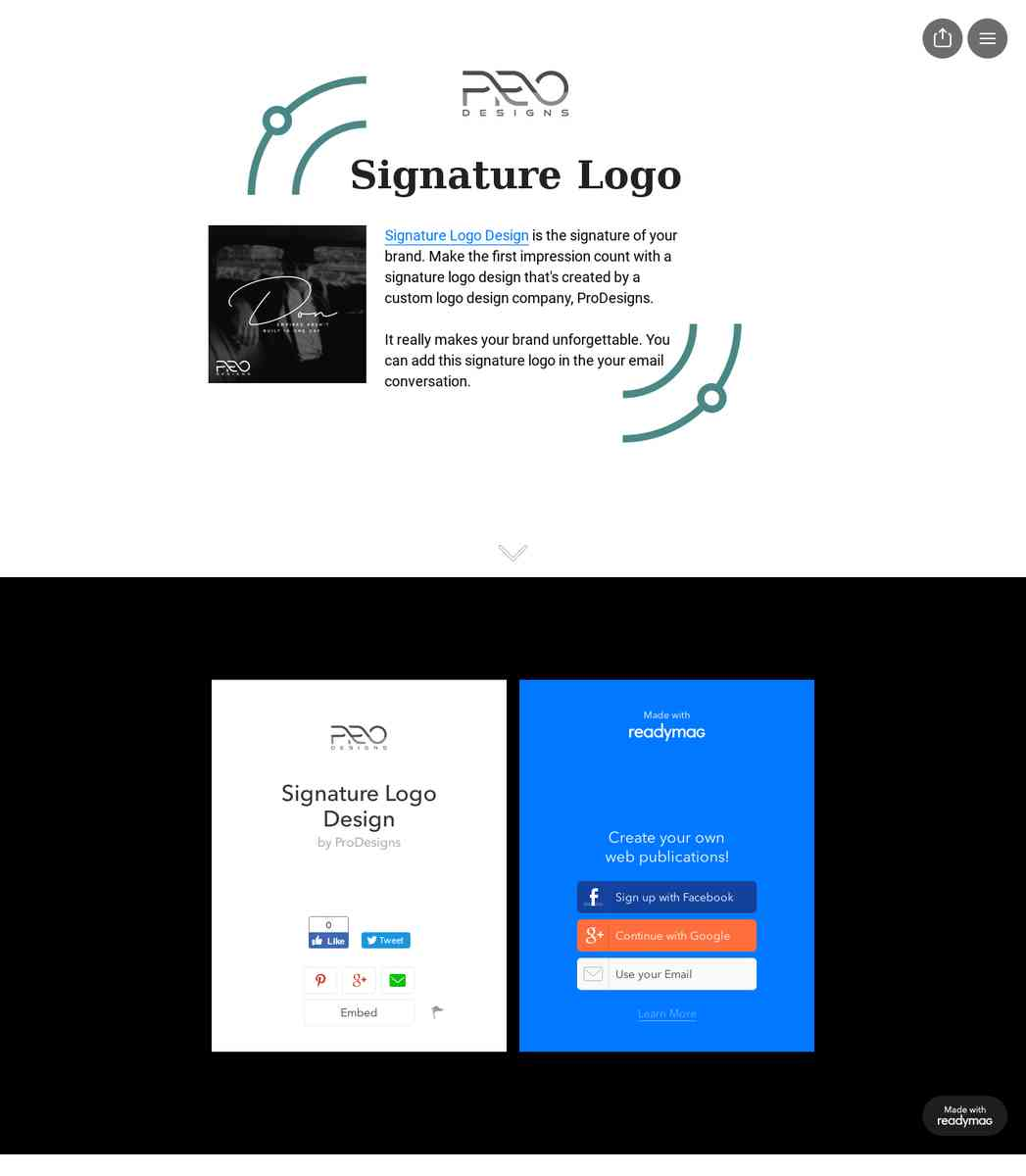 Signature Logo Design, Create Signature Logo