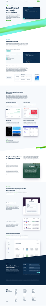 Stripe Treasury: Banking-as-a-service for platforms