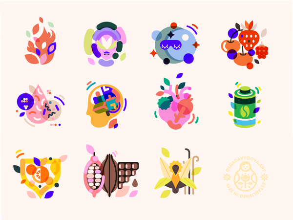 Health Supplement Icons