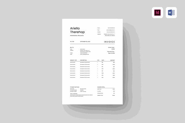 $ Invoice Template