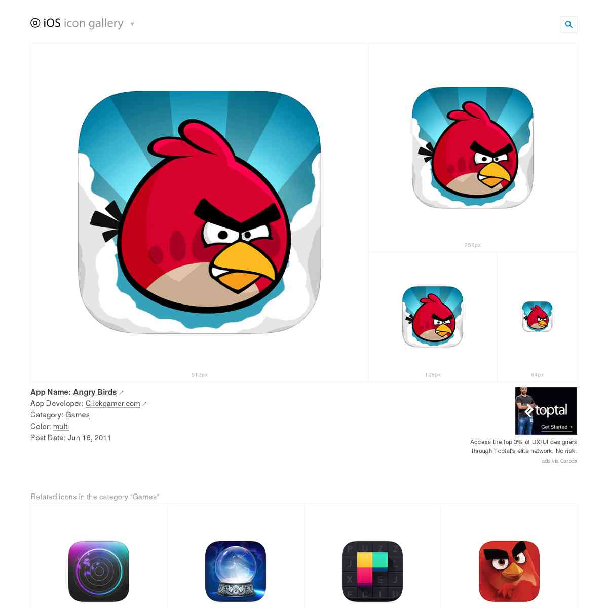iosicongallery.com/games/angry-birds/