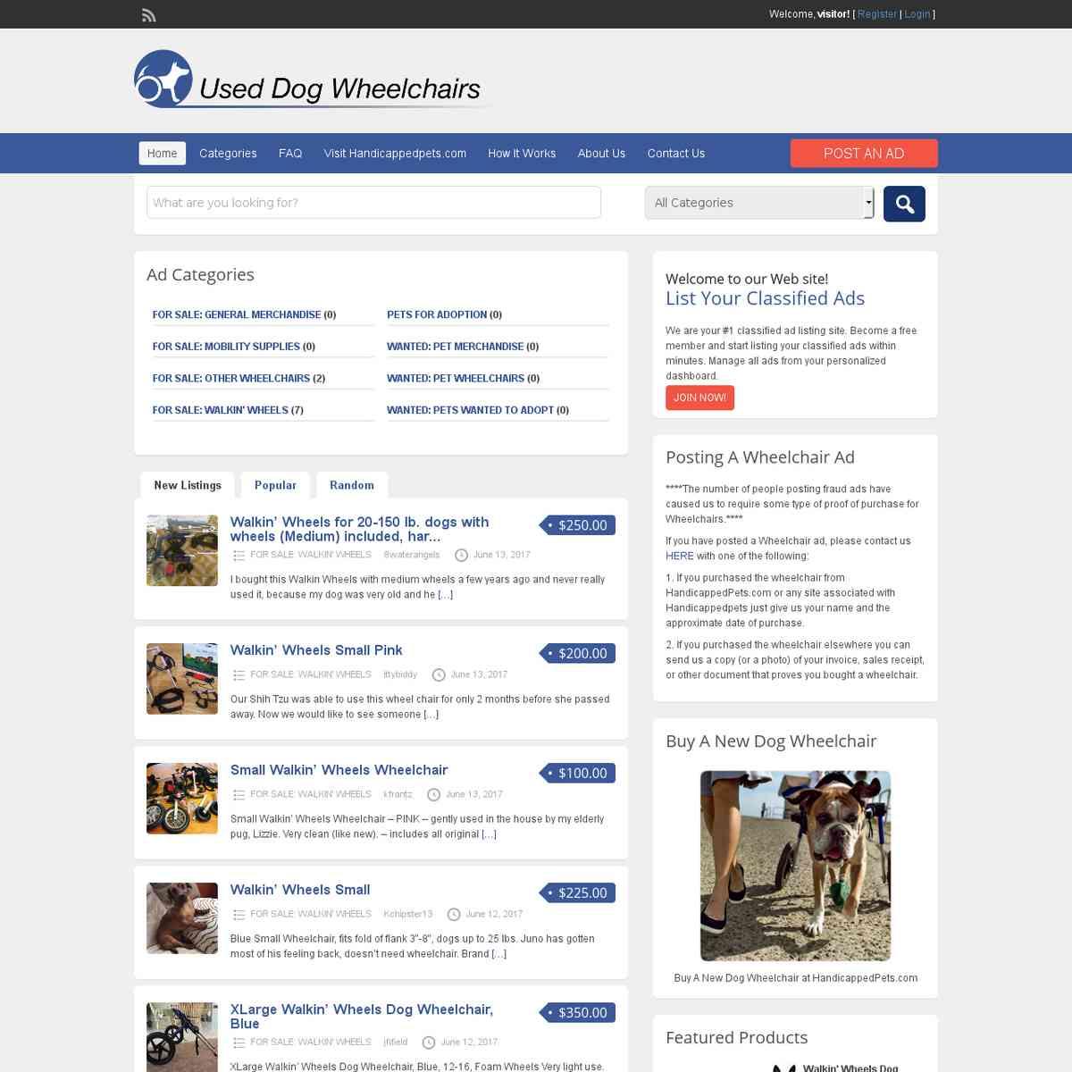 Used Dog Wheelchairs (NH)