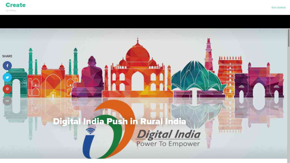 Digital India push in Rural India