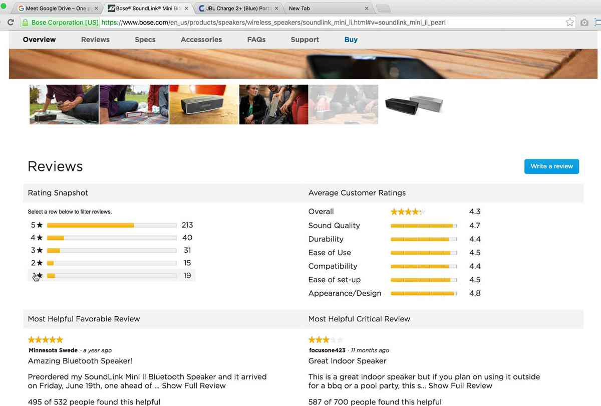 UX Research: 5 Requirements for the 'Ratings Distribution Summary' on the Product Page (65% Get…