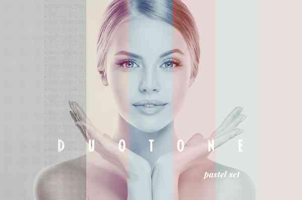Duotone Photoshop Effect with Halftone Overlays