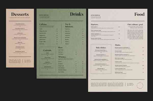 Kino Royal | Food menu