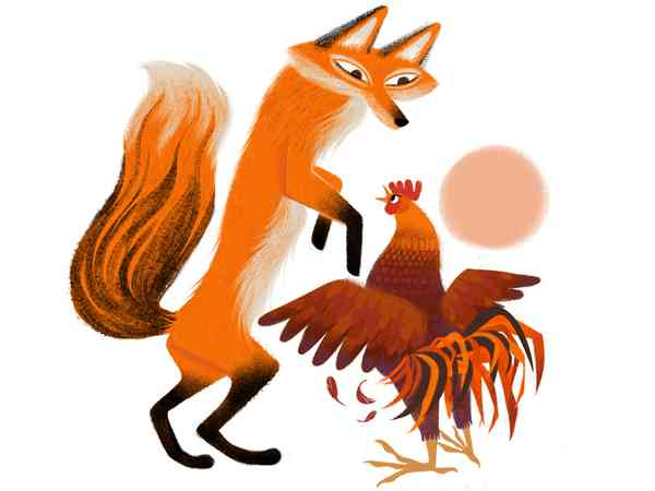 Fox and Rooster