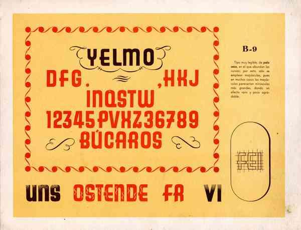 Miguel Pedraza lettering model, c.1950