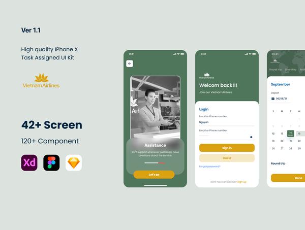 Booking Flight App UI Kit