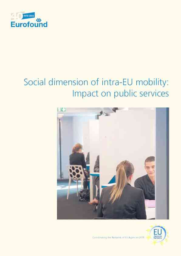 Social dimension of intra-EU mobility: Impact on public services