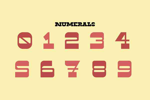 Twin Lakes Display Font | Numbers