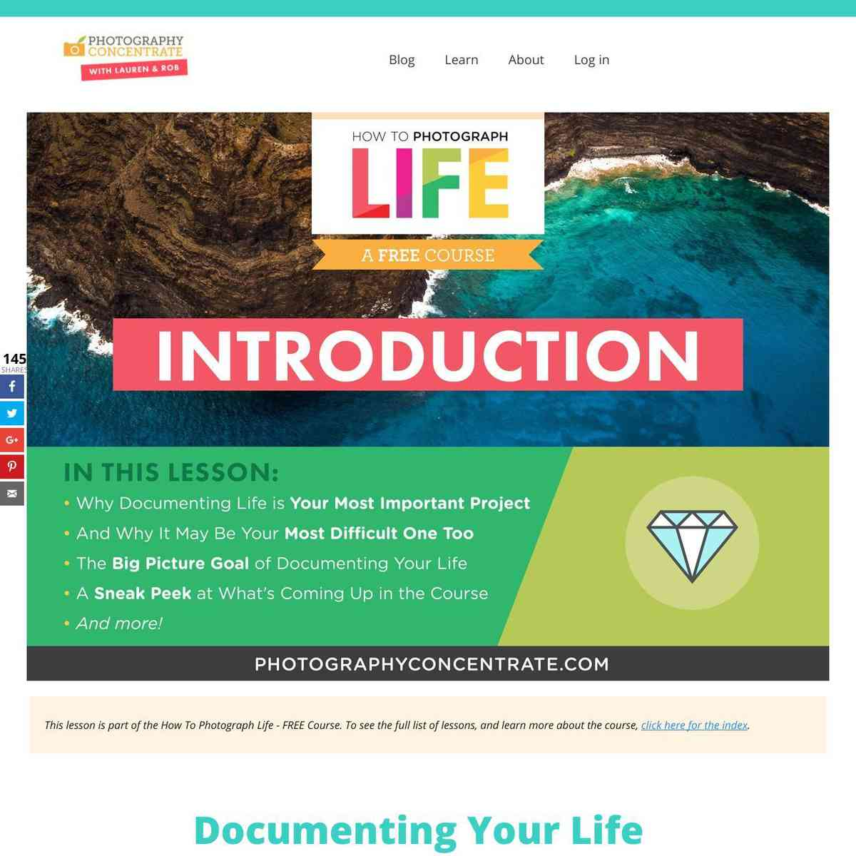 Documentary Course – Introduction - Photography Concentrate