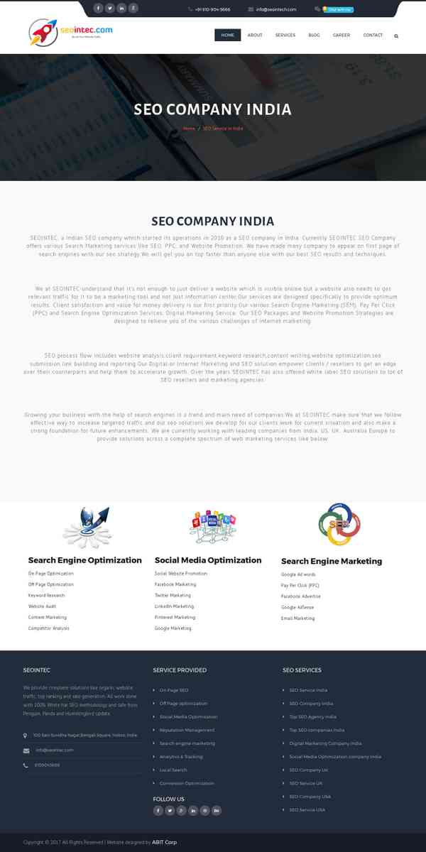 Top Result Based SEO Company in India