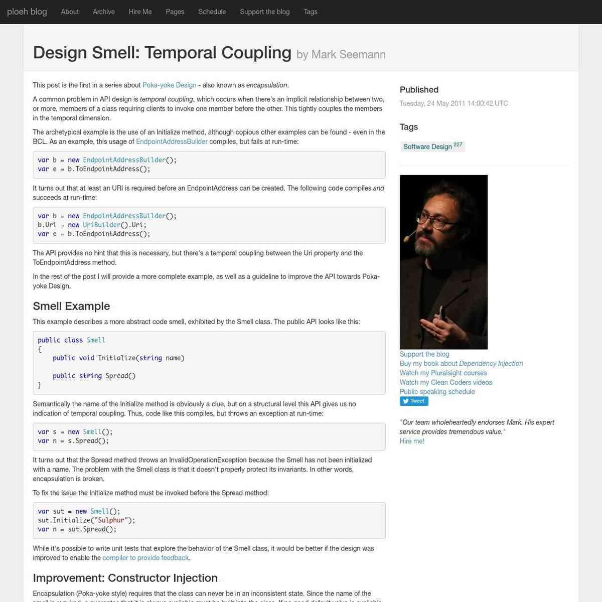 Design Smell: Temporal Coupling