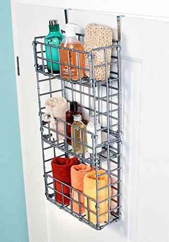 Accessoire de rangement avec 3 paniers pour salle de bains | Pearl.fr