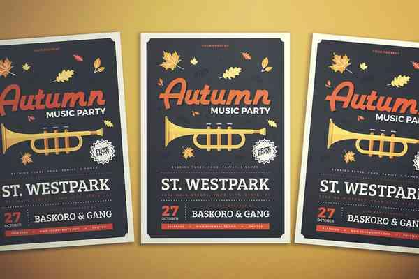 $ Autumn Party Flyer