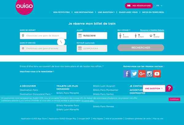 Billets de train pas cher SNCF -TGV low cost - Ouigo