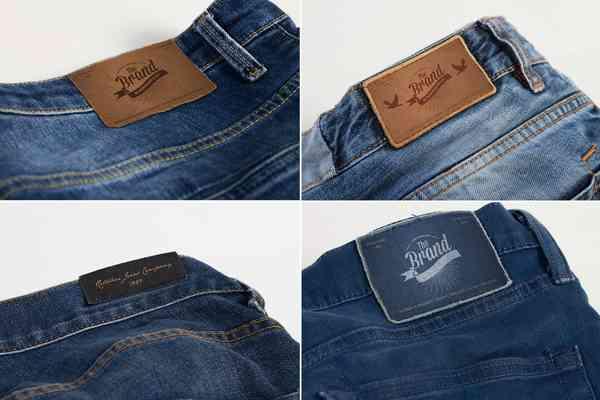 $ Jeans Label Mock Up
