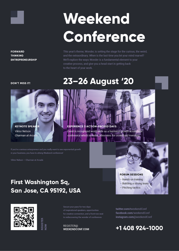 Weekend Conf Poster