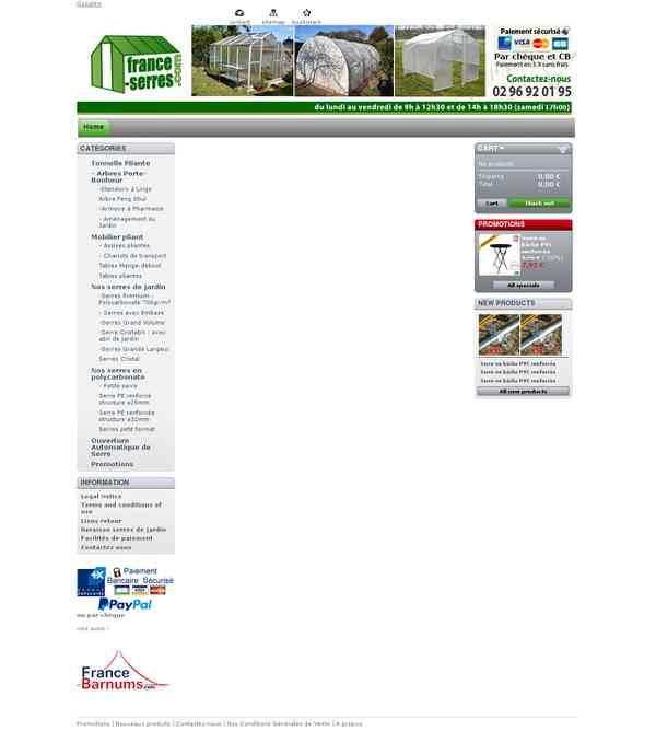 Serre de jardin - France Serres - Serre Alu, polycarbonate ou PVC pour vos jardins