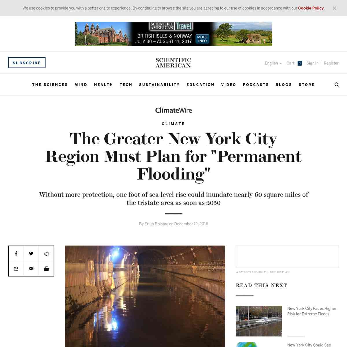 """The Greater New York City Region Must Plan for """"Permanent Flooding"""""""
