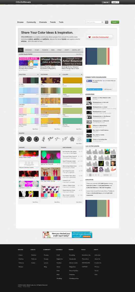 Color Trends + Palettes :: COLOURlovers