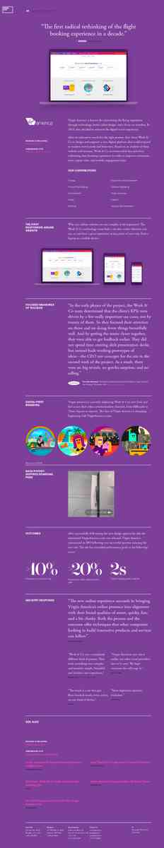 Case Study: Virgin America - Work & Co