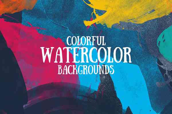 $ Colorful Watercolor Backgrounds