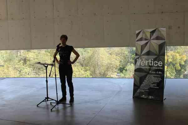 Performance de Ute Wasserman. La garganta el grito y la voz. Poetica Sonora MX 2017