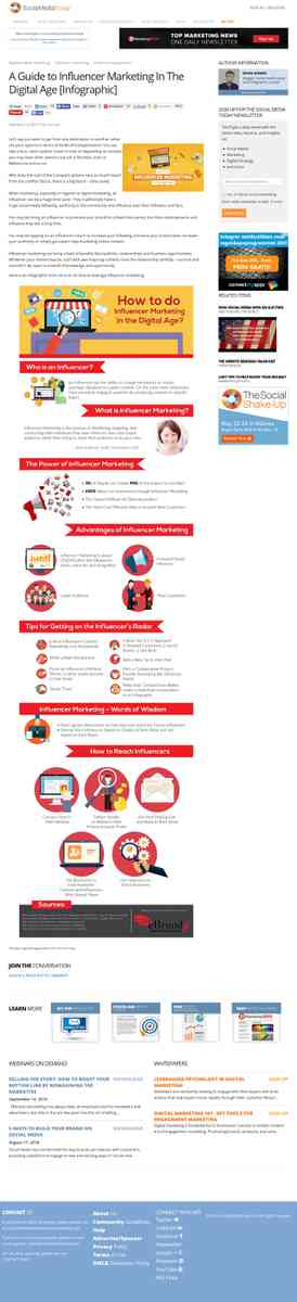A Guide to Influencer Marketing In The Digital Age [Infographic] | Social Media Today