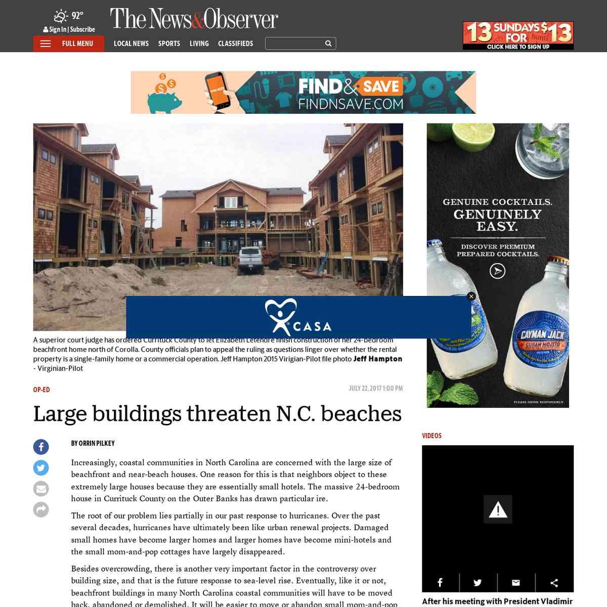 Large buildings threaten N.C. beaches