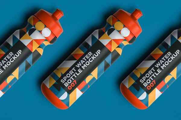 Sport Water Bottle Mockup 007