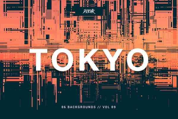 $ Tokyo | City Glitch Backgrounds
