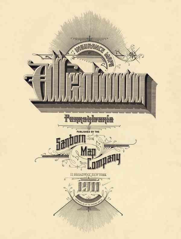 BibliOdyssey: Sanborn Fire Insurance Map Typography