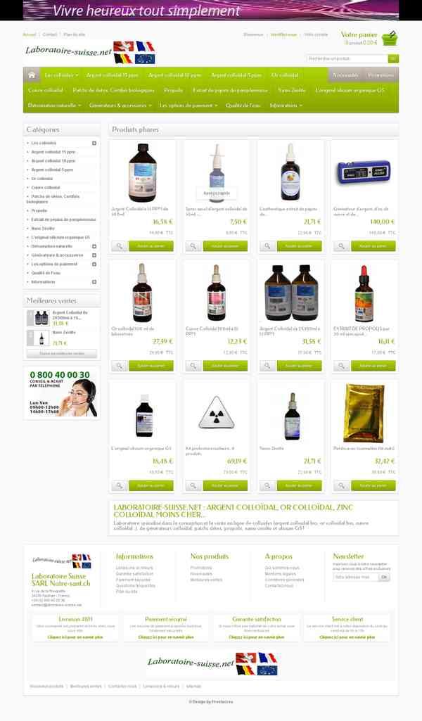 Laboratoire Suisse de fabrication de colloïdes - Vente en ligne argent or colloïdal - Laboratoire…