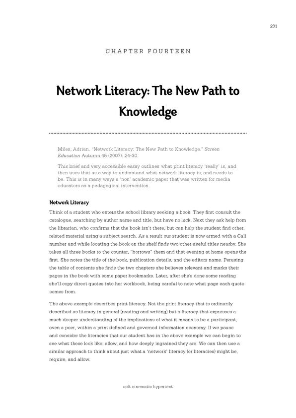03.1 Network Literacy