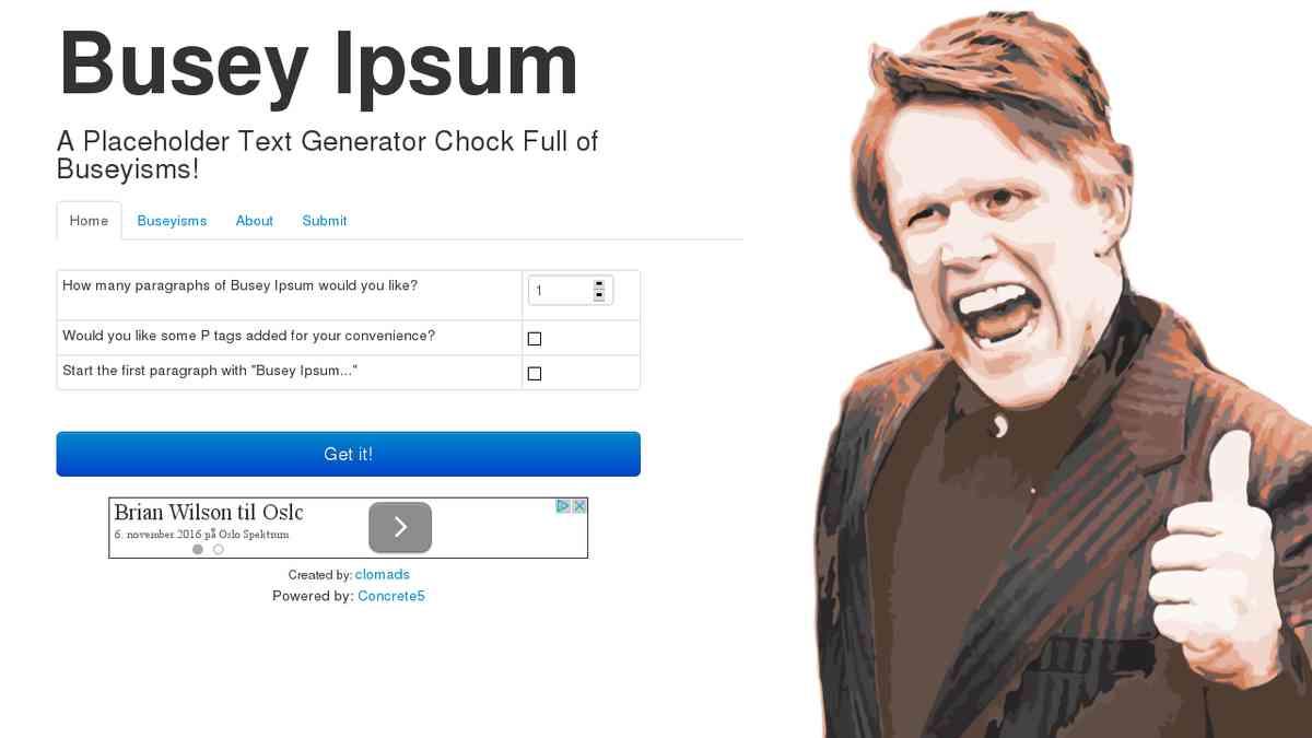 Busey Ipsum