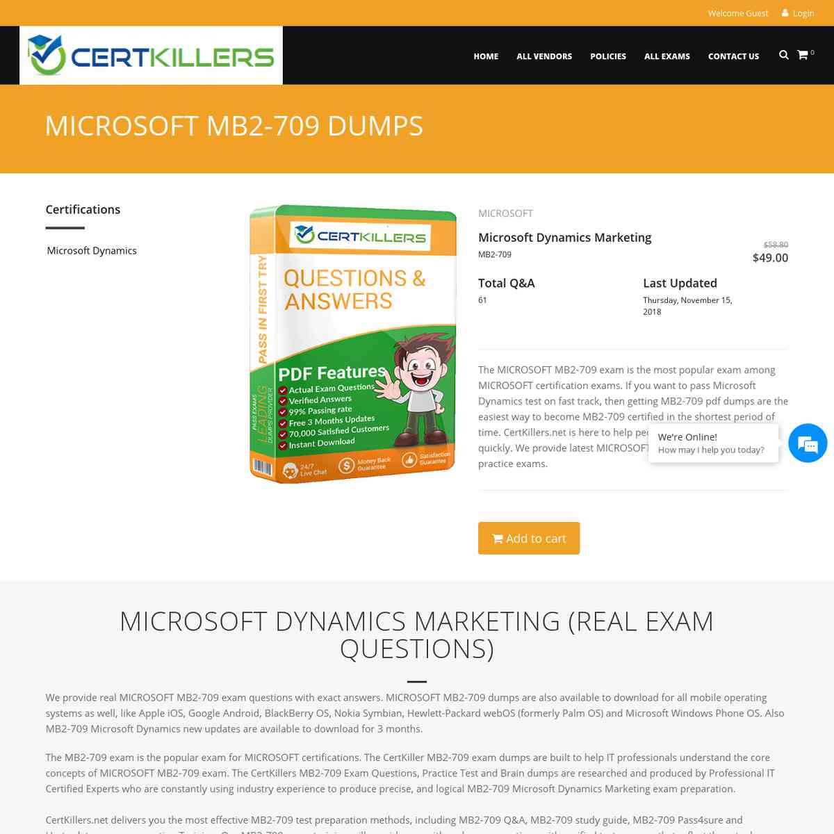 Just CertKillers.net MB2-709 test questions and answers is expected to pass | test questions | test…