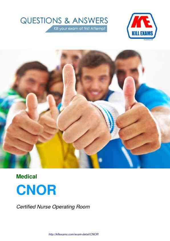 Pass4sure CNOR Practice Tests with Real Questions