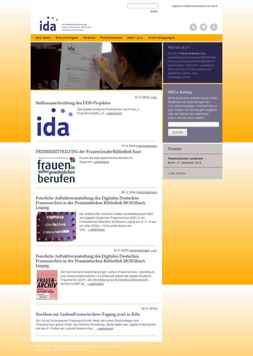 ida - Dachverband deutschsprachiger Frauen / Lesbenarchive, -bibliotheken und -dokumentationsstellen