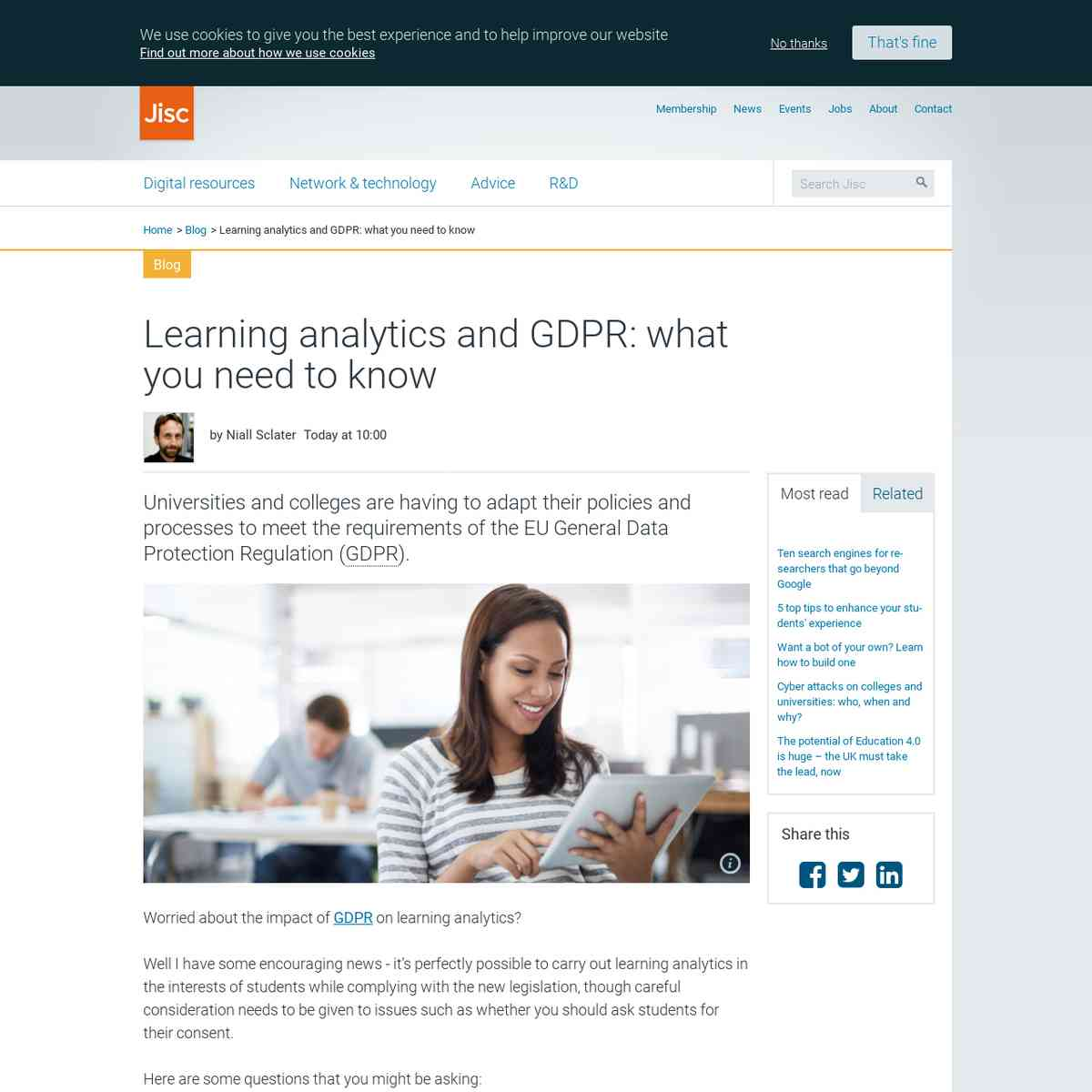 Learning Analytics and GDPR