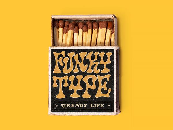 Funky Type. Trendy Life