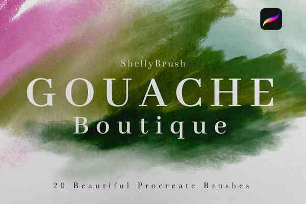 Gouache Boutique Procreate Brushes