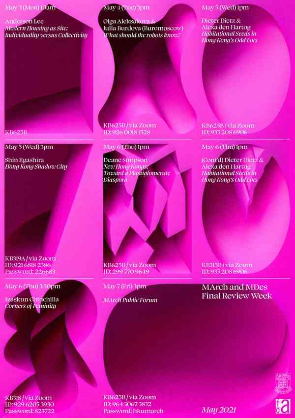 HKU Architecture Degree Show 2021 | Poster