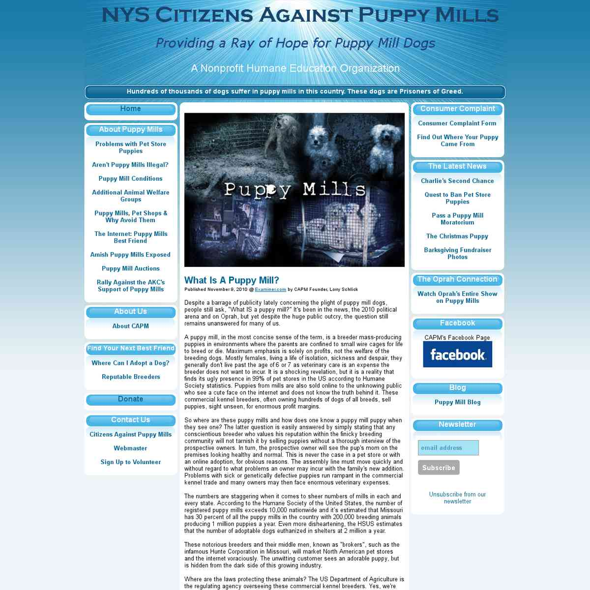 NYS Citizens Against Puppy Mills