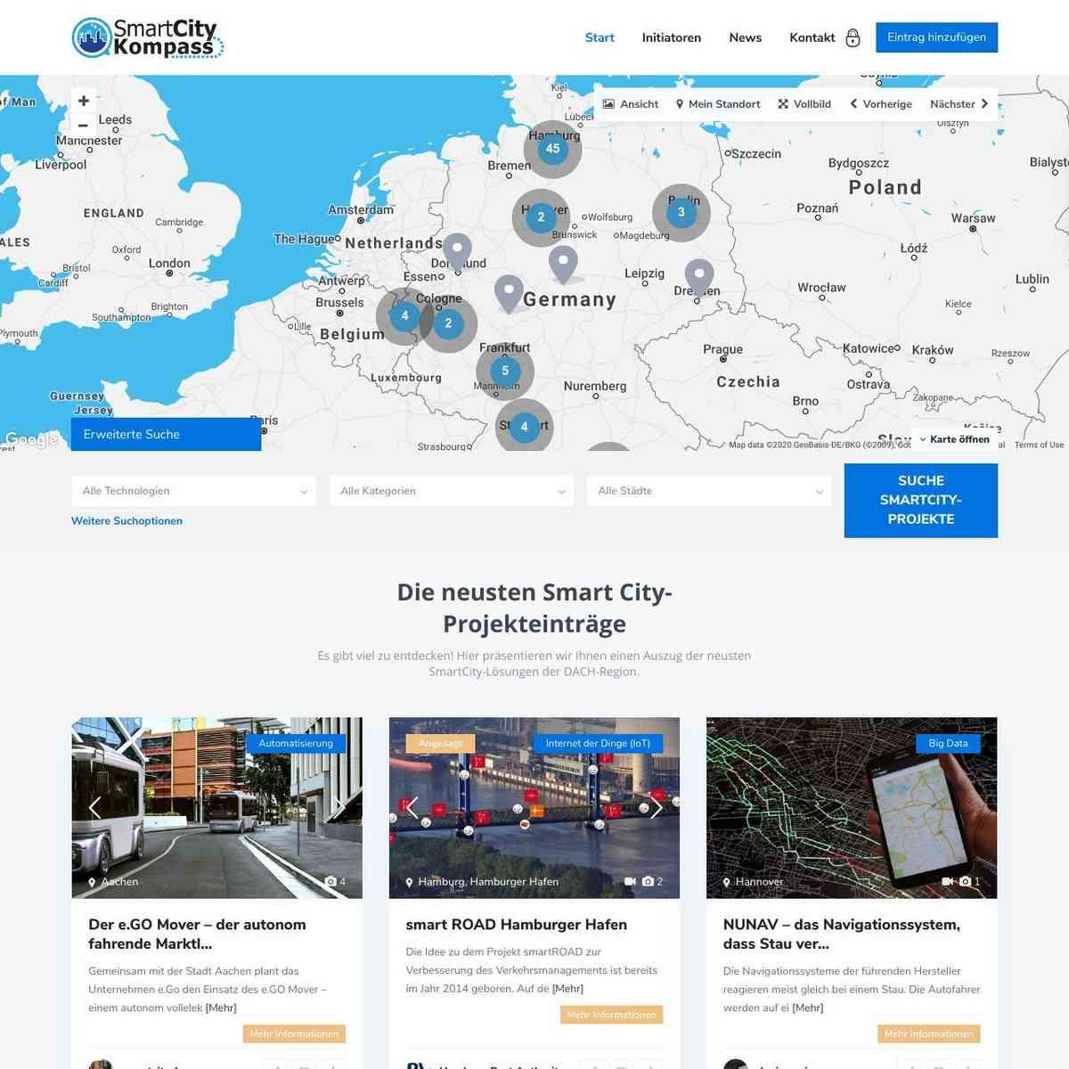 Digitale Projekte in Deutschland im Überblick - Smart City Kompass