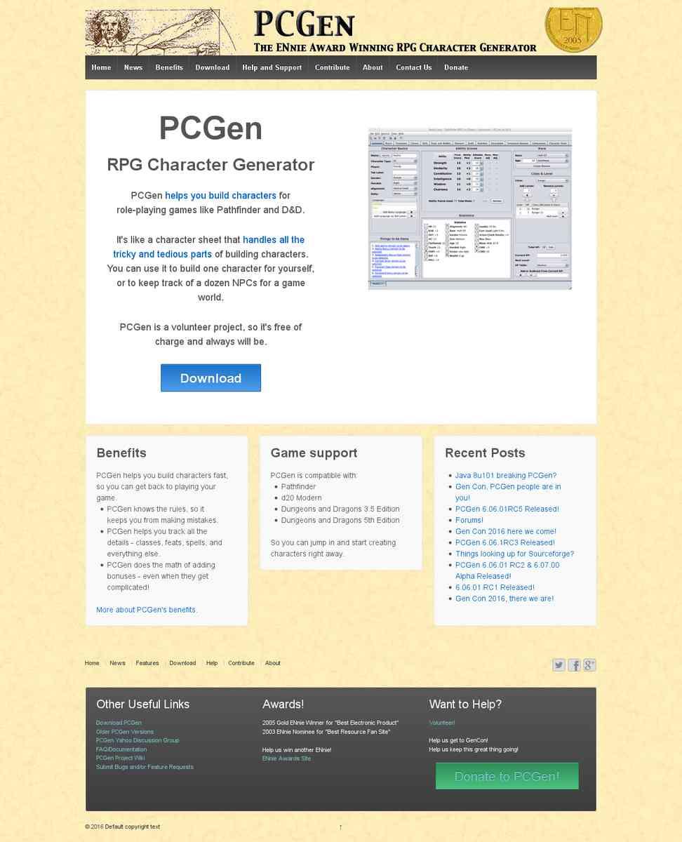 Free Chargen - d20 PCGen
